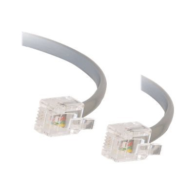 C2G RJ11 6P4C Straight Modular Cable